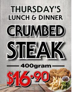 Thursday Crumb Steak Special